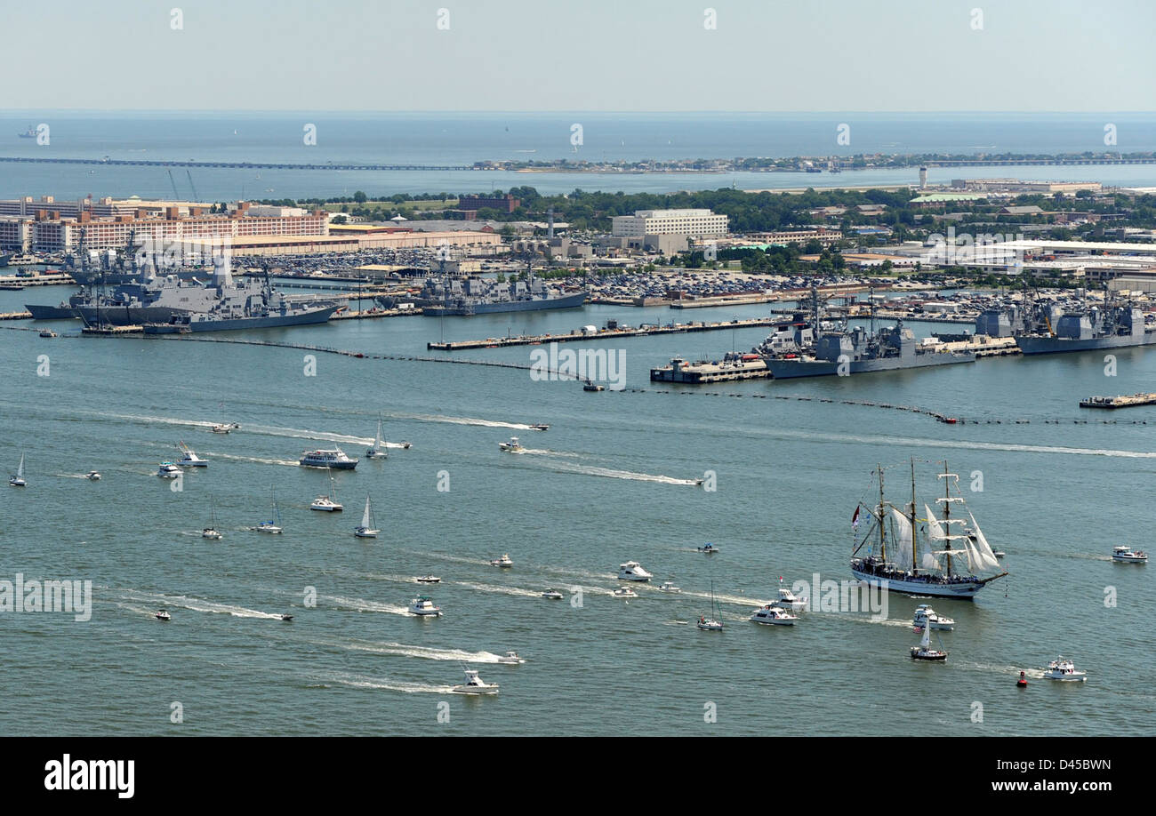 Ships participate in Operation Sail. - Stock Image