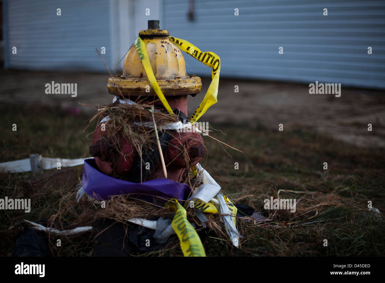Wreckage around Keansburg Amusement Park, NJ due to Superstorm Sandy - Stock Image