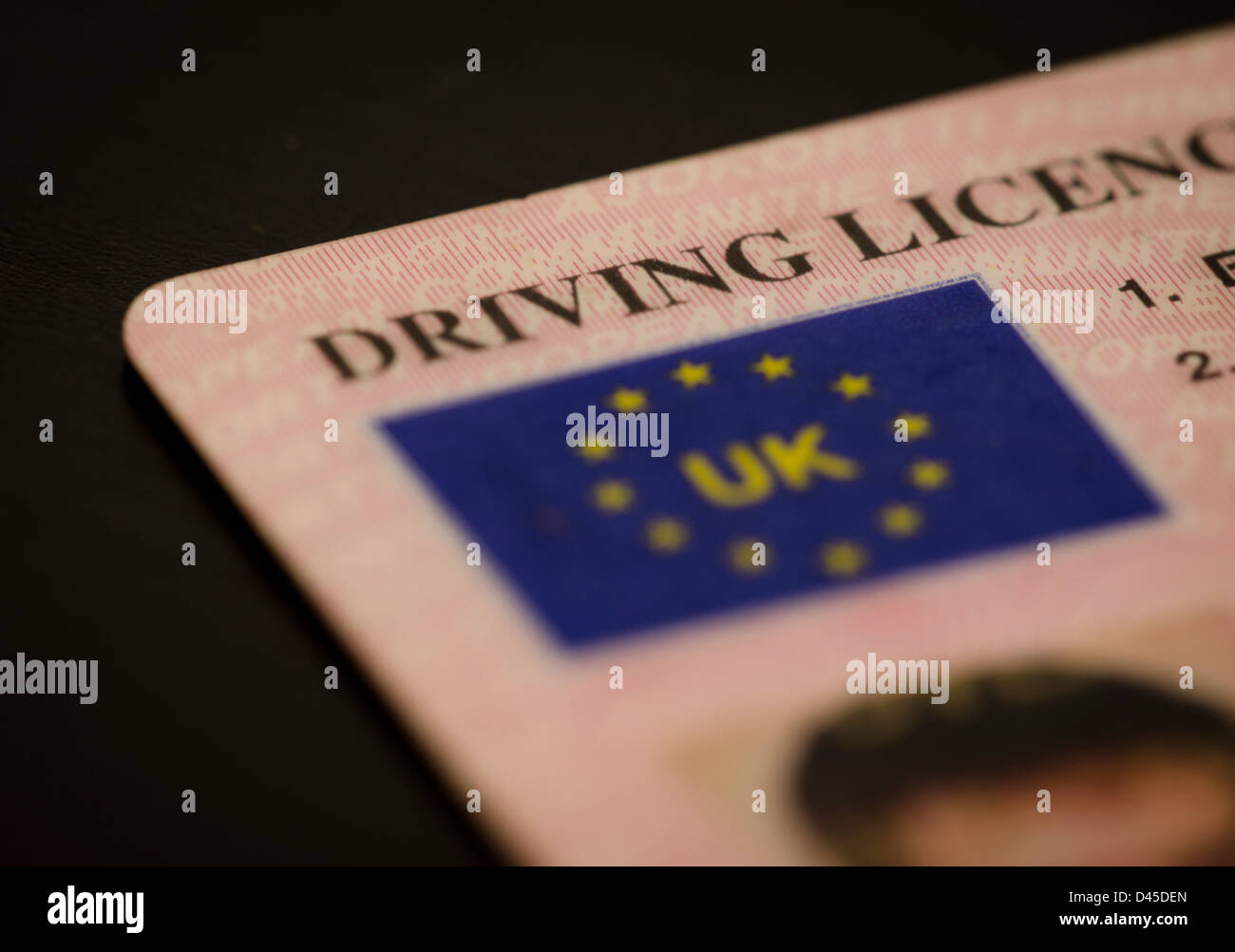 UK Driving License Stock Photo