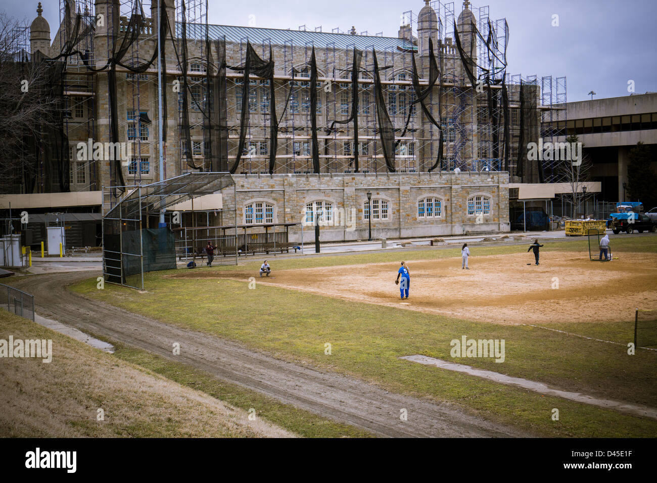 Baseball Field On The Campus Of Lehman College Of The City University Stock Photo Alamy