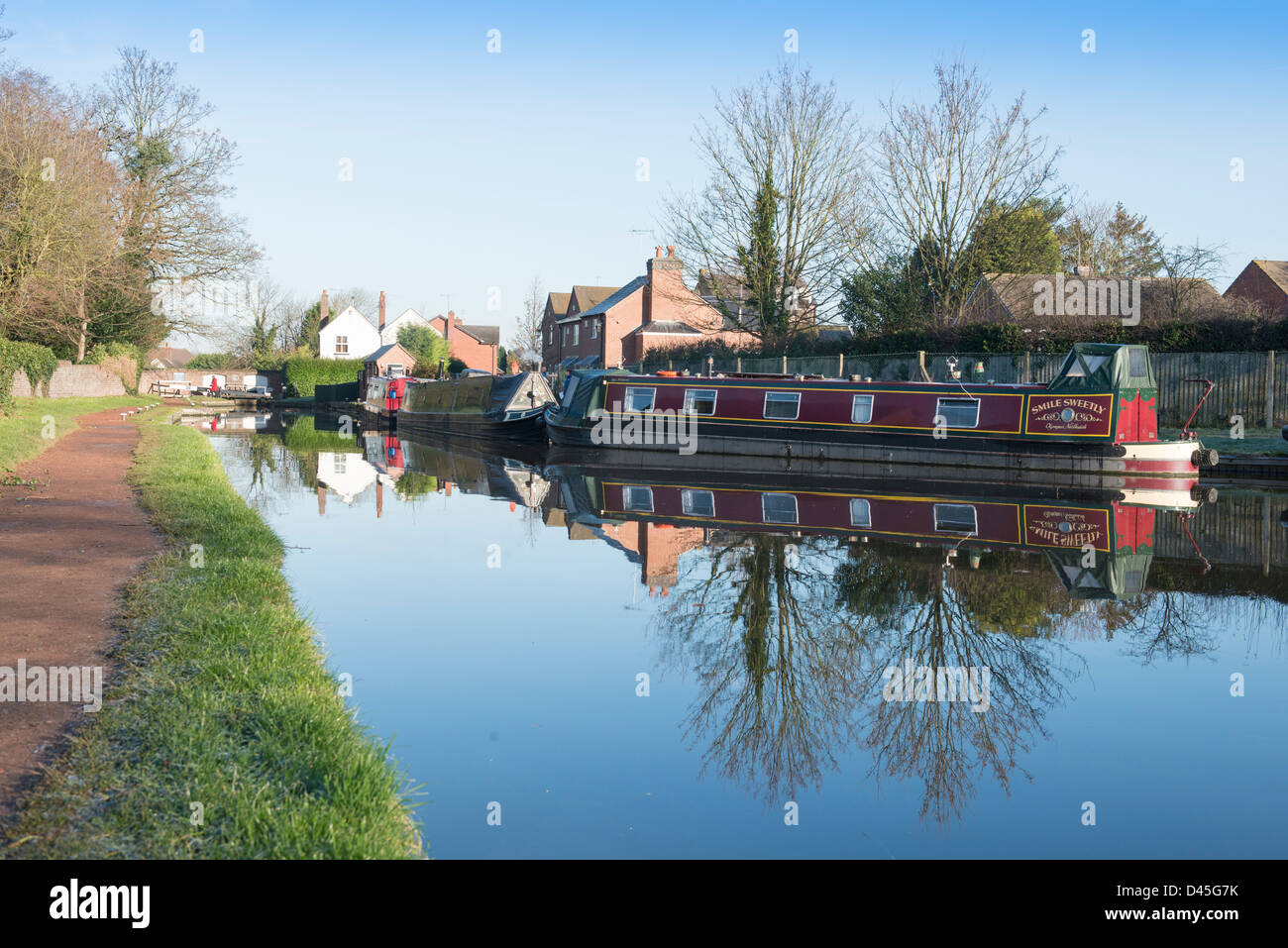 Canals at Penkridge, Staffordshire. - Stock Image