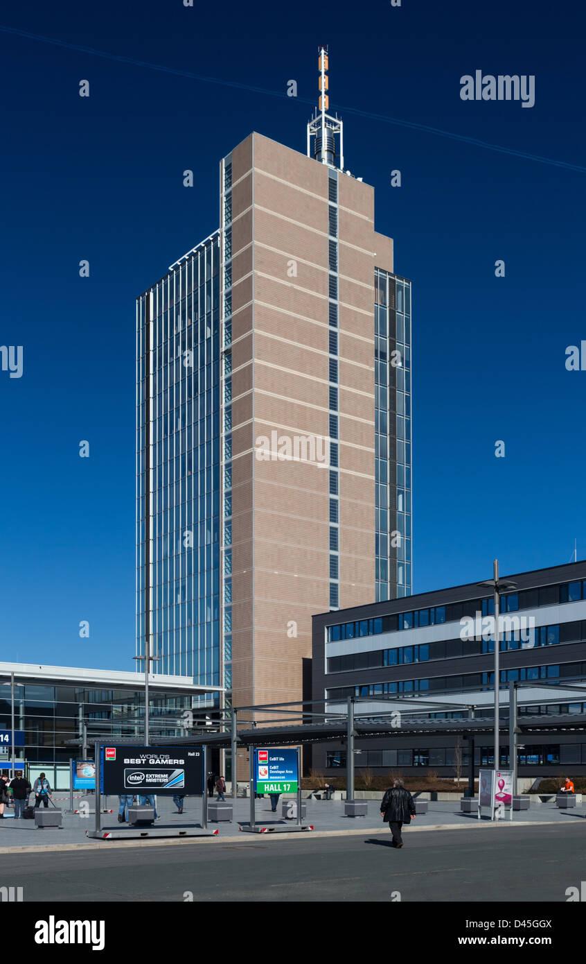 Hochhaus der Deutschen Messe AG in Hannover - Stock Image