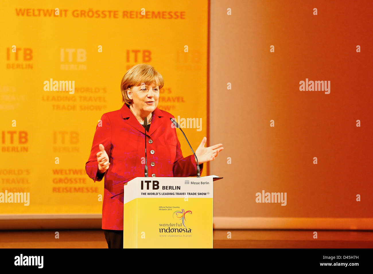 Berlin, Germany. 5th March 2013. The opening ceremony of ITB 2013 at the ICC Berlin with Raimund Hosch, CEO, Messe - Stock Image