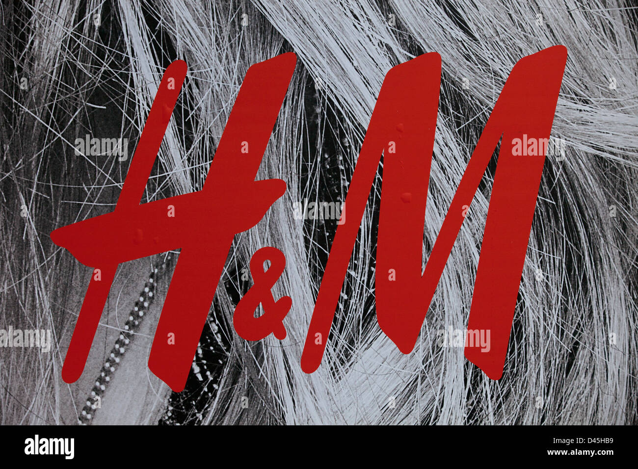 Sign for clothes shop H&M. - Stock Image
