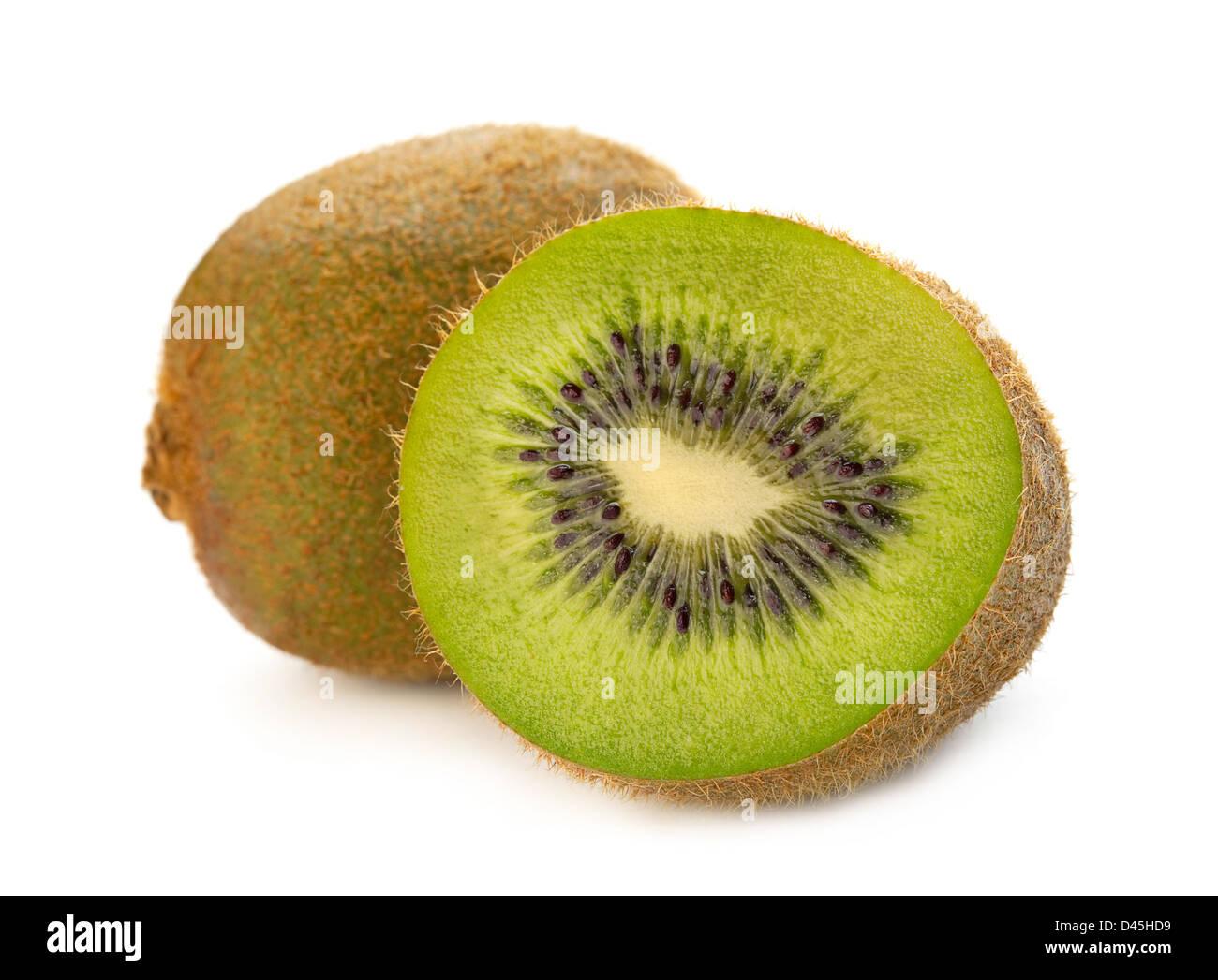 Kiwi fruit isolated on white background - Stock Image