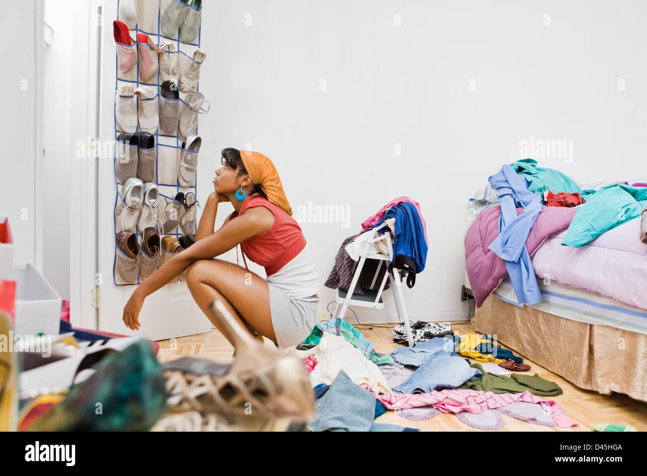 Image result for african american girl looking into a closet