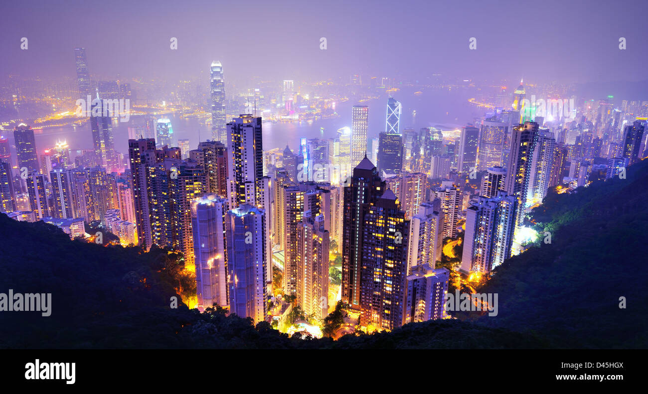 Hong Kong skyline - Stock Image