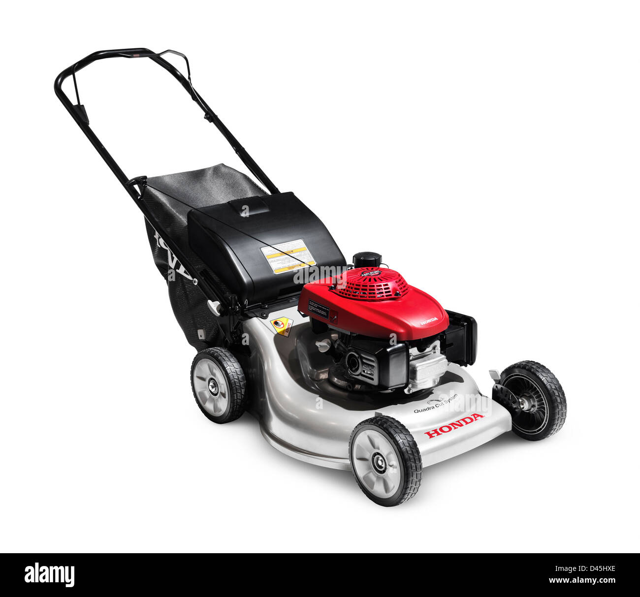 Honda lawn mower isolated on white background - Stock Image