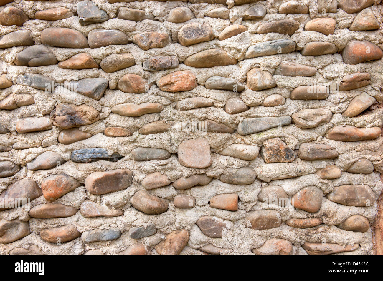 a stone wall or path background texture - Stock Image