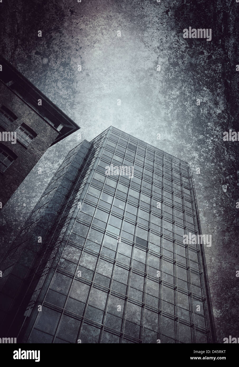 office block textured background - Stock Image