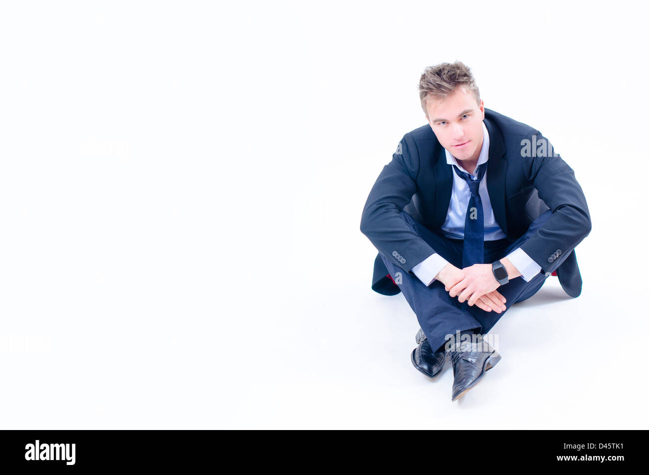 An young businessman isolated on white background Stock Photo