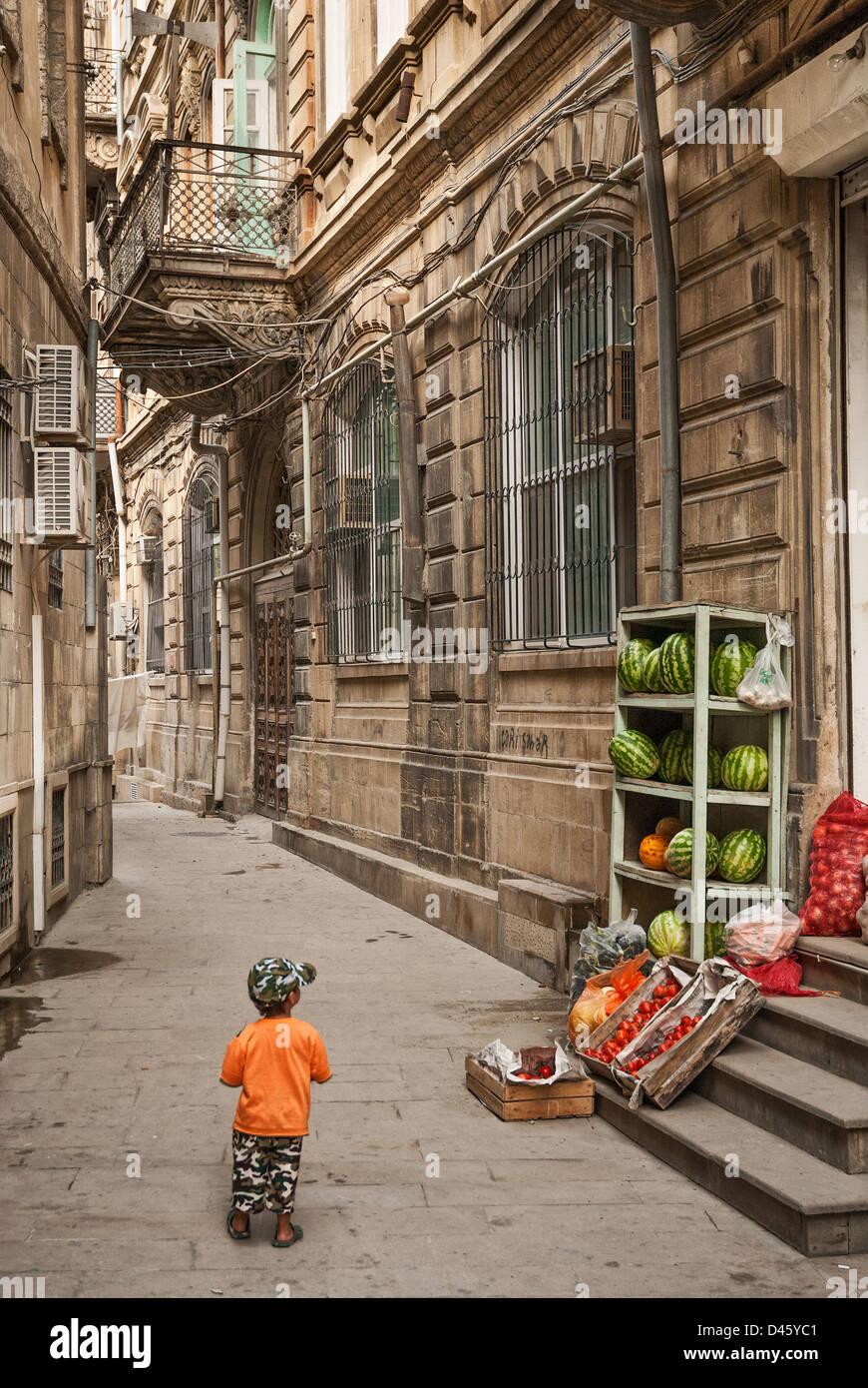 architecture in baku azerbaijan street Stock Photo