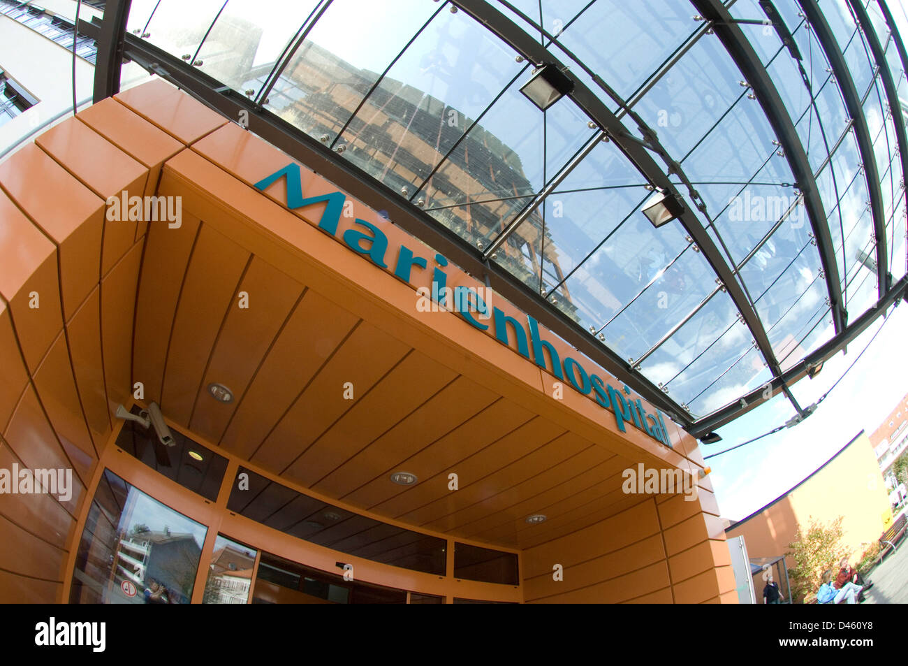 Front entrance of the Marien Hospital, Osnabruck, Germany. - Stock Image