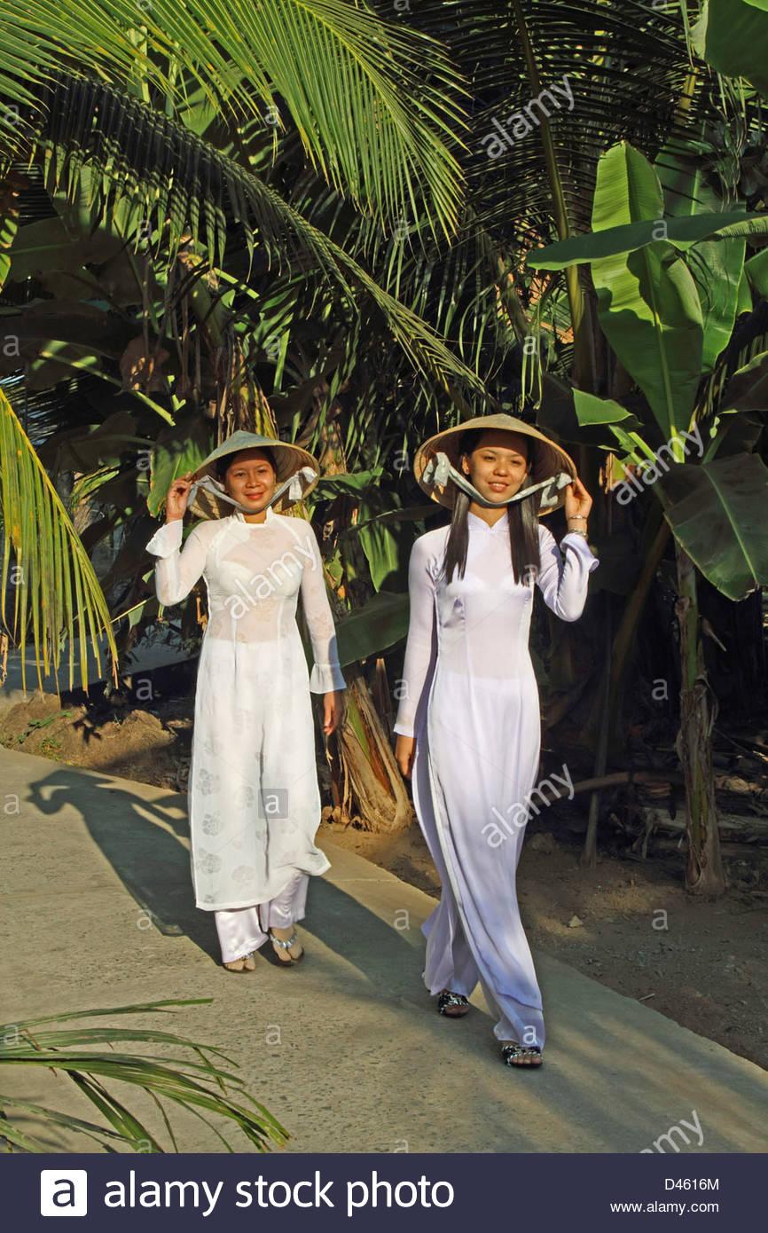 Village of Bên Tre, the Mekong Delta, Viet Nam, Asia - Stock Image