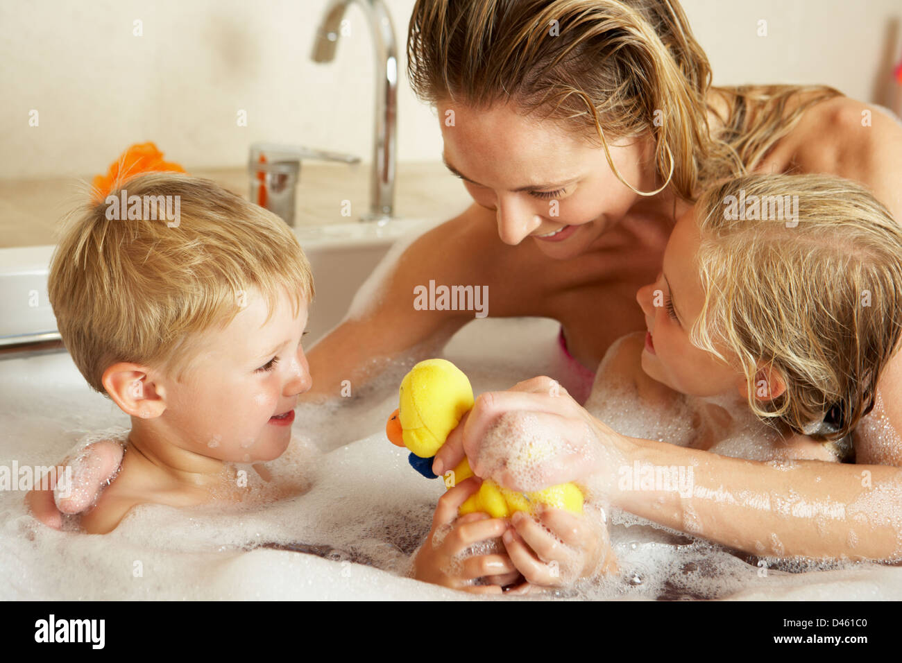Male Child Having Bath In Stock Photos & Male Child Having Bath In ...