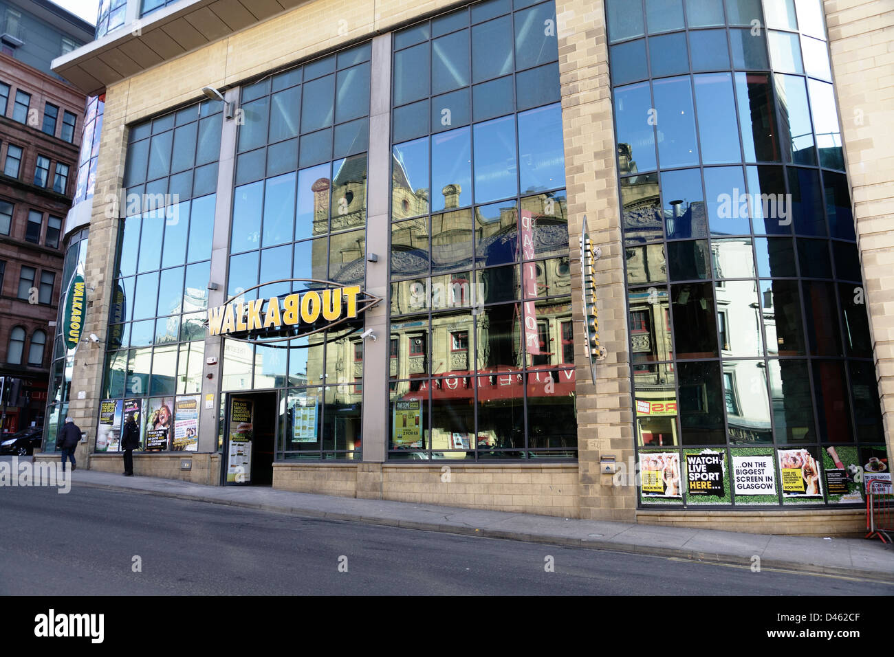 Walkabout Bar on Renfield Street in Glasgow city centre, Scotland, UK Stock Photo