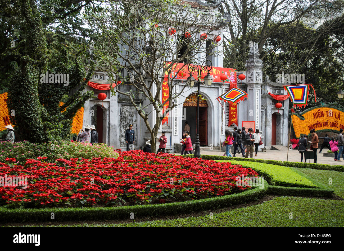 Temple of Literacy in Hanoi Vietnam - Stock Image