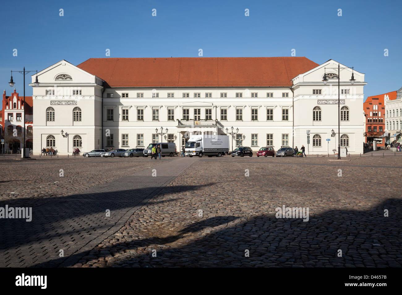 Rathaus, Wismar, Mecklenburg Vorpommern, Germany - Stock Image