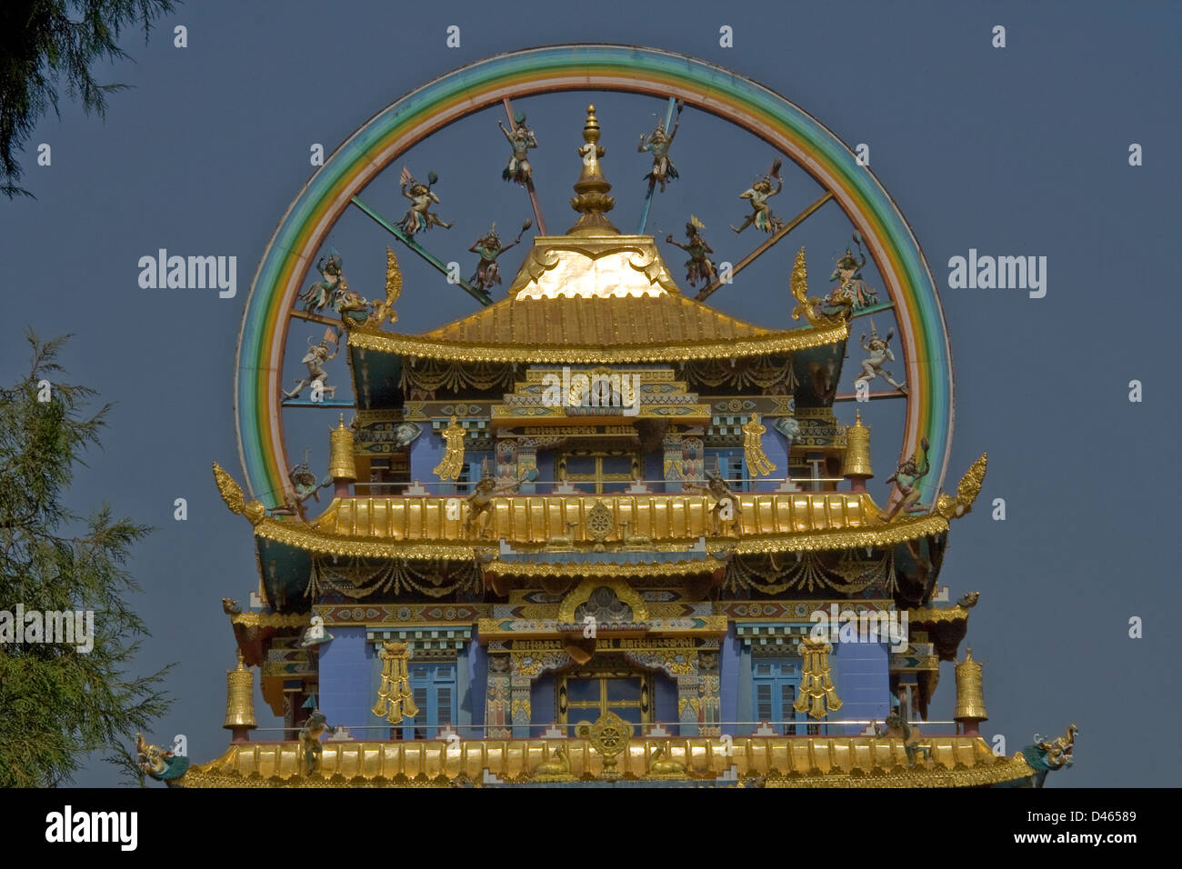Namdroling Monastery (Golden Temple), Bylakuppe, near Kushalnagar, Mysore District, Karnataka, India, Asia Stock Photo