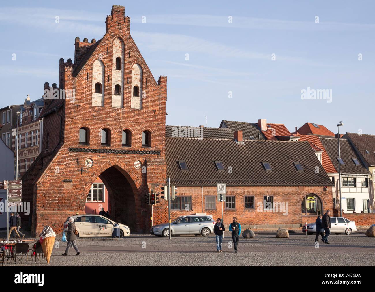 Wassertor, Wismar, Mecklenburg Vorpommern, Germany - Stock Image