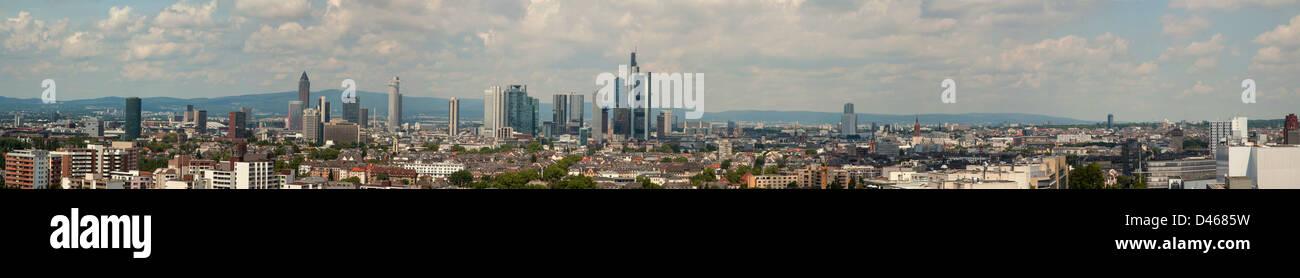 Frankfurt Main City Panoramic view Deutschland, Frankfurt am Main, Orte, Panorama - Stock Image