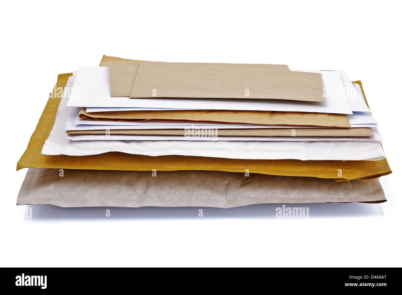 Stack of mail - Stock Image