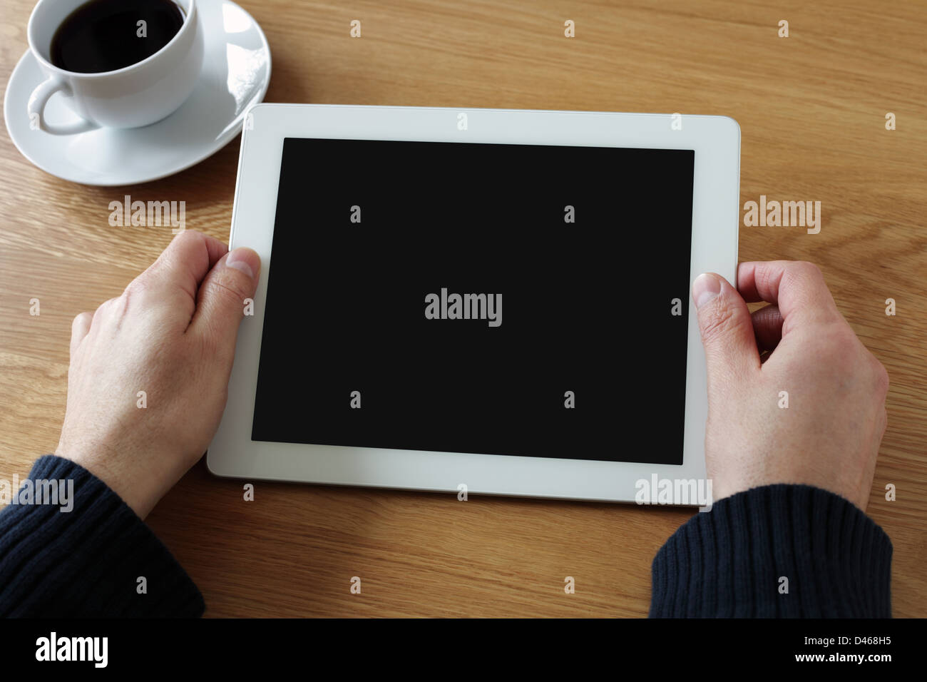 Digital tablet with blank screen - Stock Image