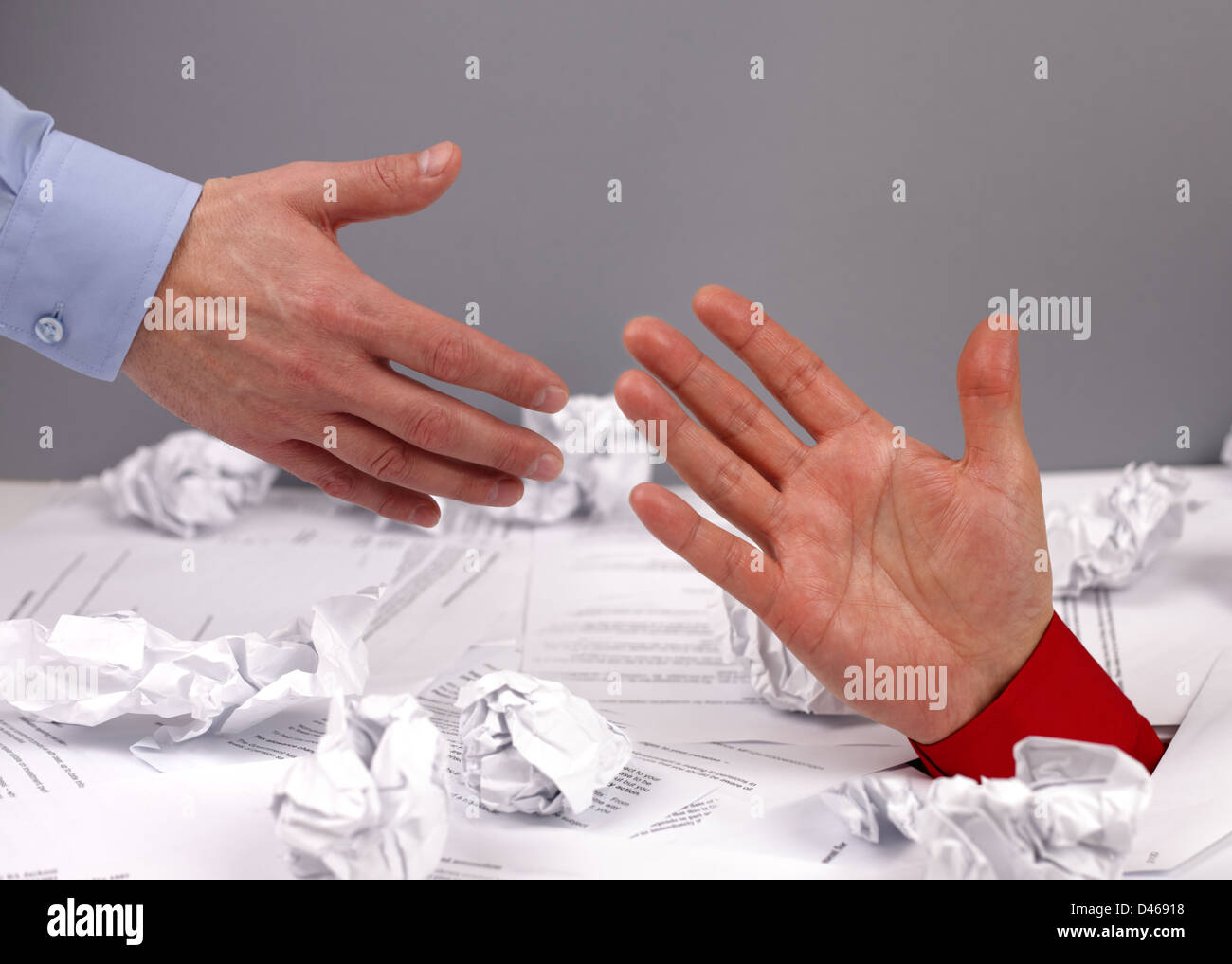 Reaching out for help - Stock Image