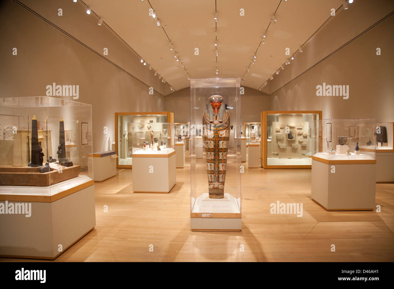Interior Brooklyn Museum New York City Egyptian   Stock Image