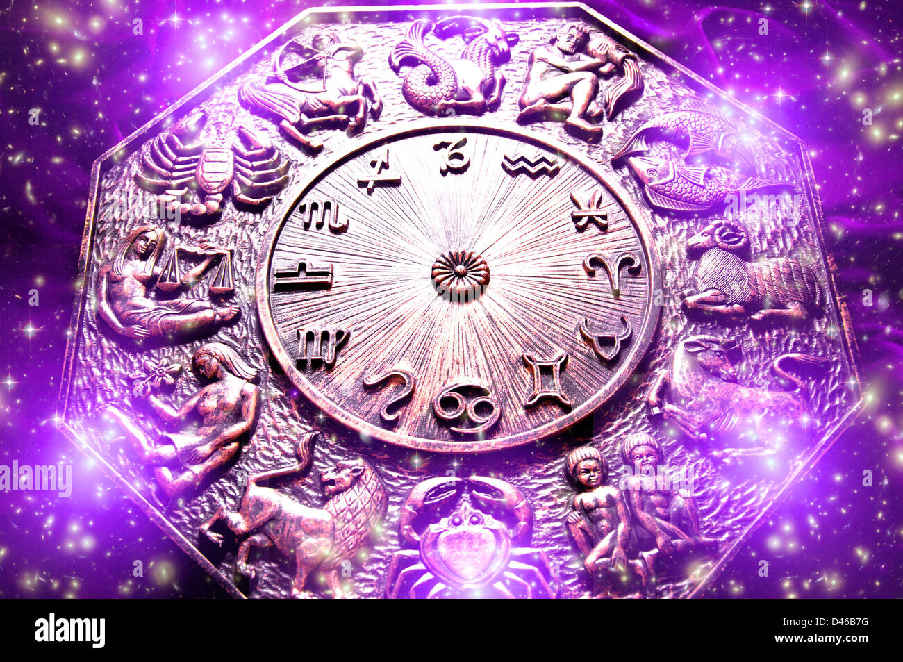 astrology and zodiac - Stock Image