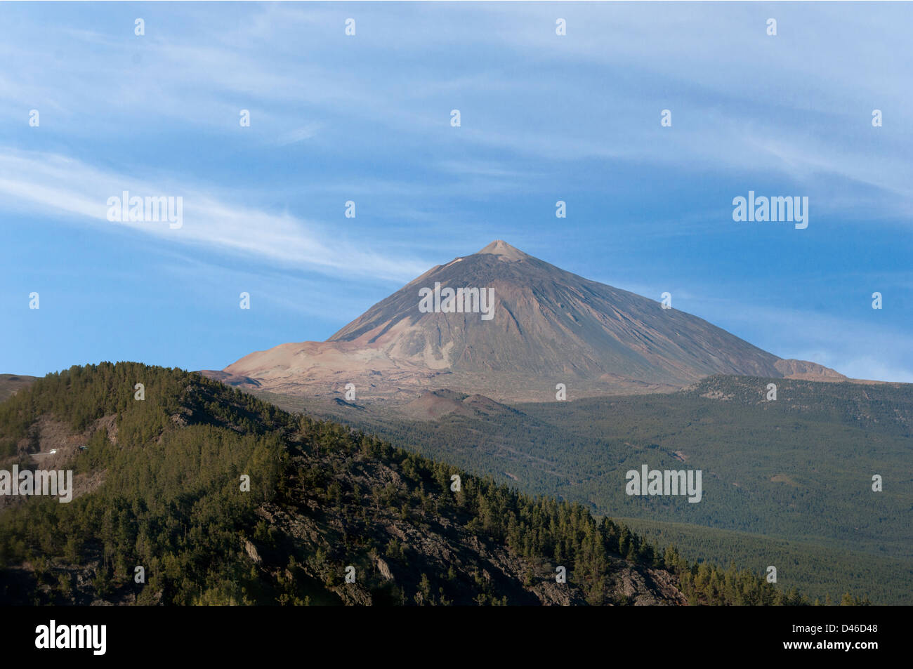 Teide volcano on Tenerife in the Canary Islands - Stock Image