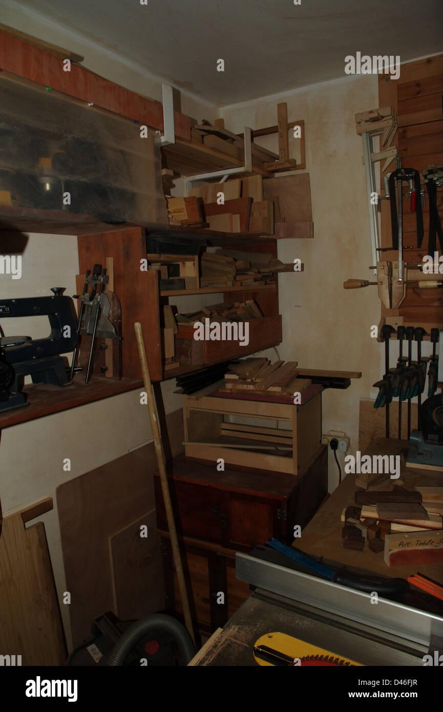 carpenter workshop - Stock Image