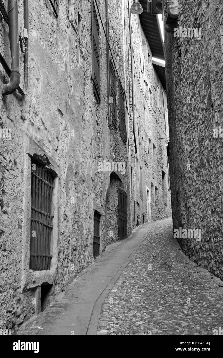 Bergamo - little old aisle - Stock Image