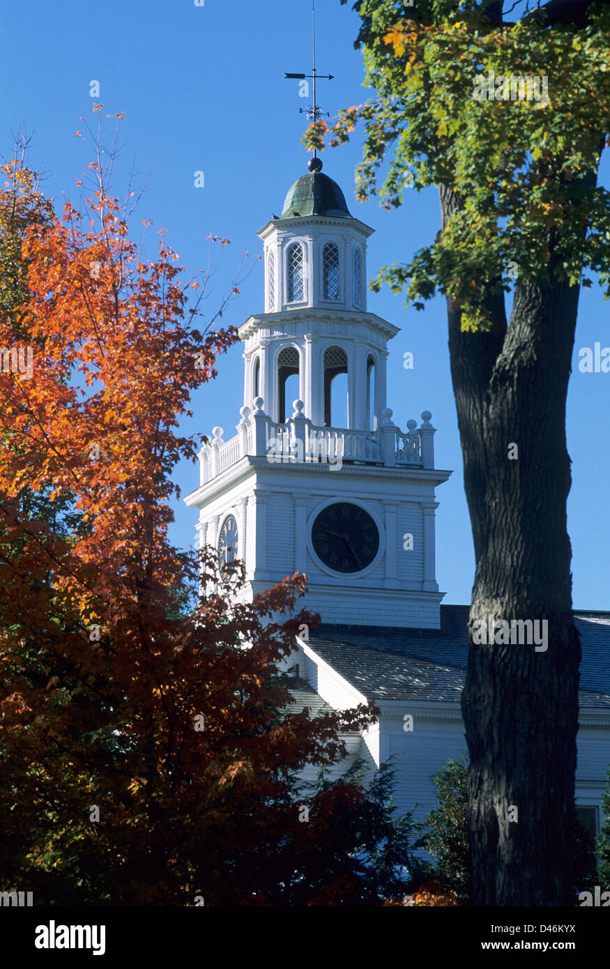 Elk280-1307v Vermont, Woodstock, First Congregational Church, 1808 - Stock Image