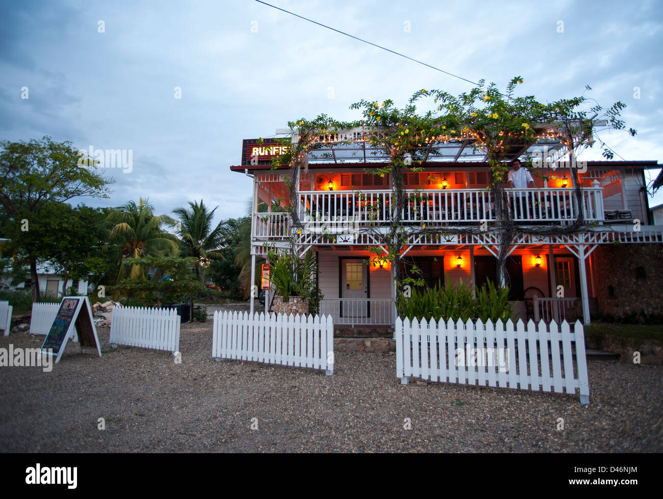 Rum fish at Placencia village - Stock Image
