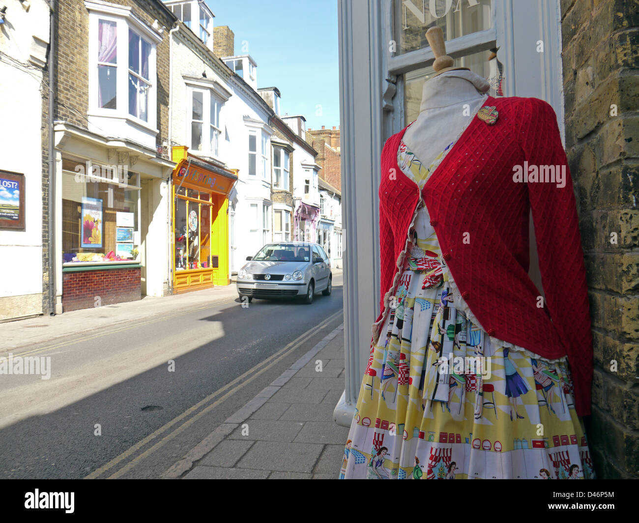 Trendy clothes for sale on Whitstable High Street - Stock Image
