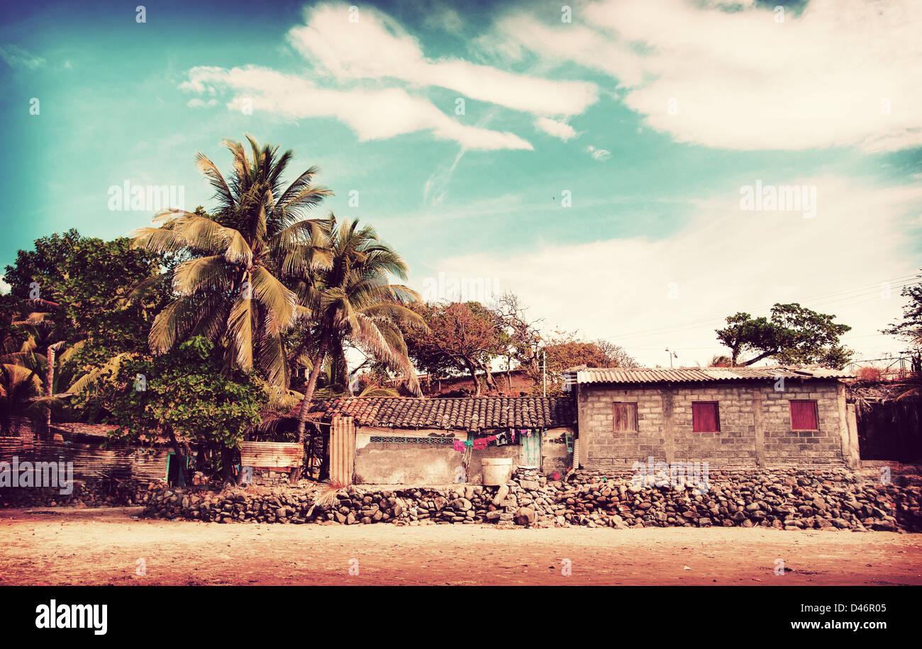 Playa EL Cuco, El Salvador - Stock Image