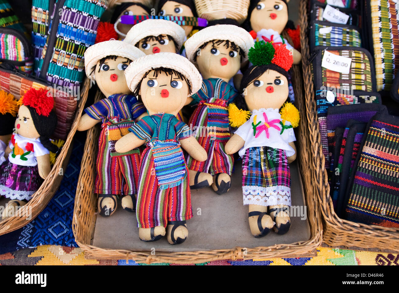 Guatemalan handicrafts for sale - Stock Image