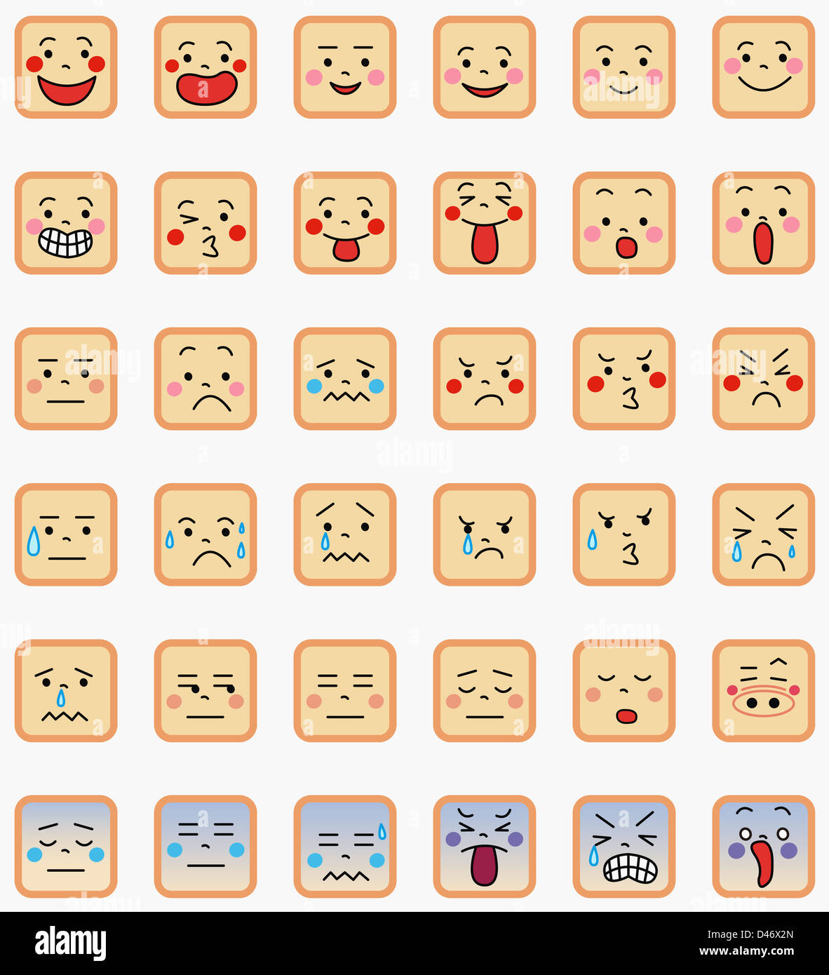Emoticons - Stock Image