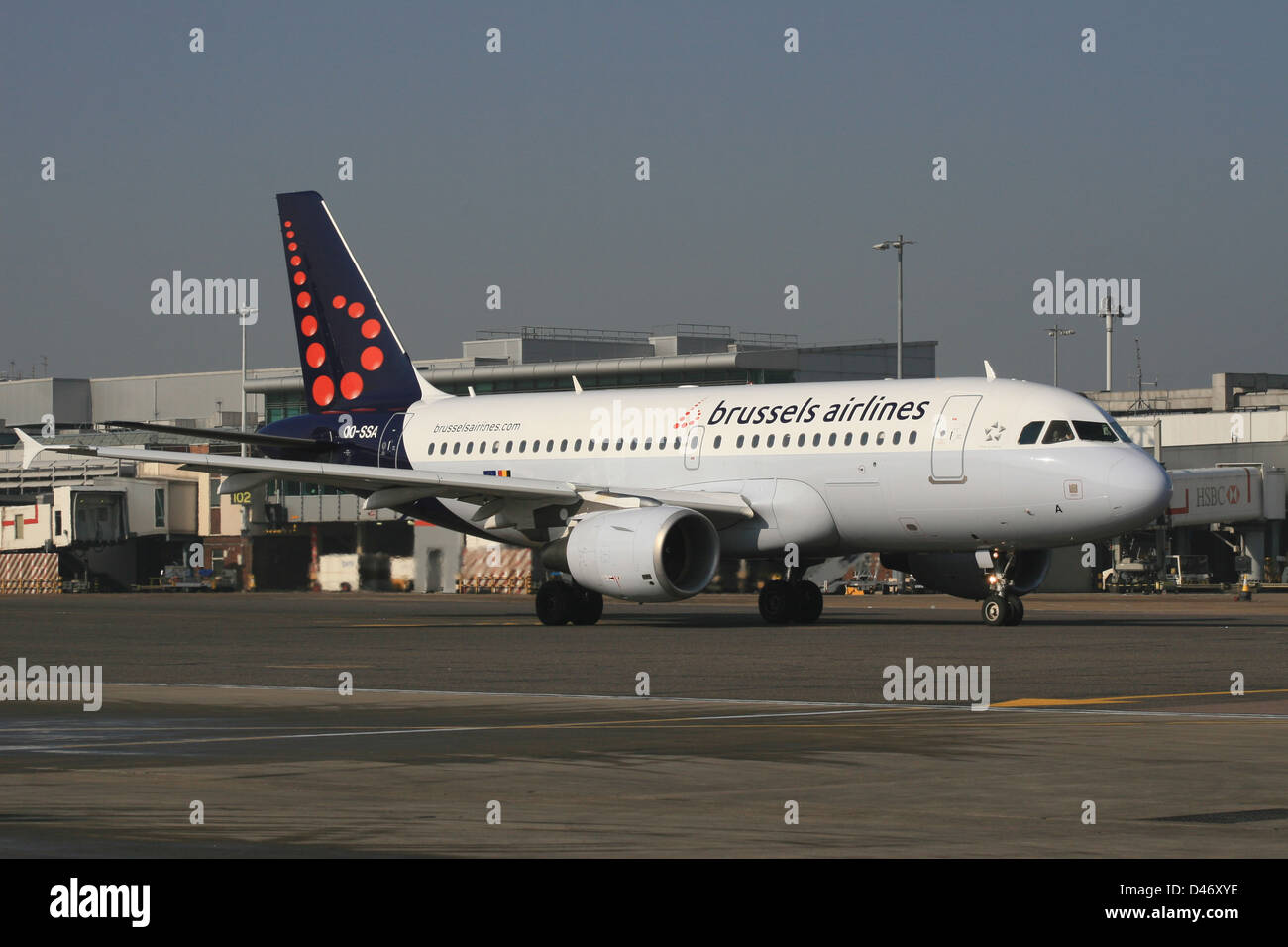 BRUSSELS AIRLINES formerly known as sabena airbus a319 - Stock Image