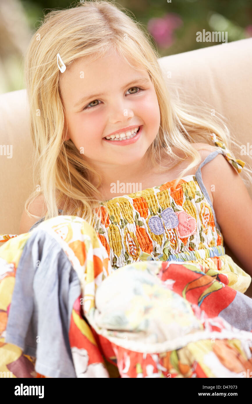 Seems very Cute blonde young girl model