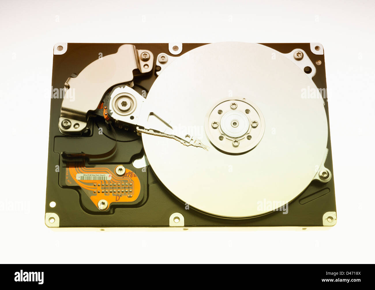 Computer Hard Disk Drive on white - Stock Image