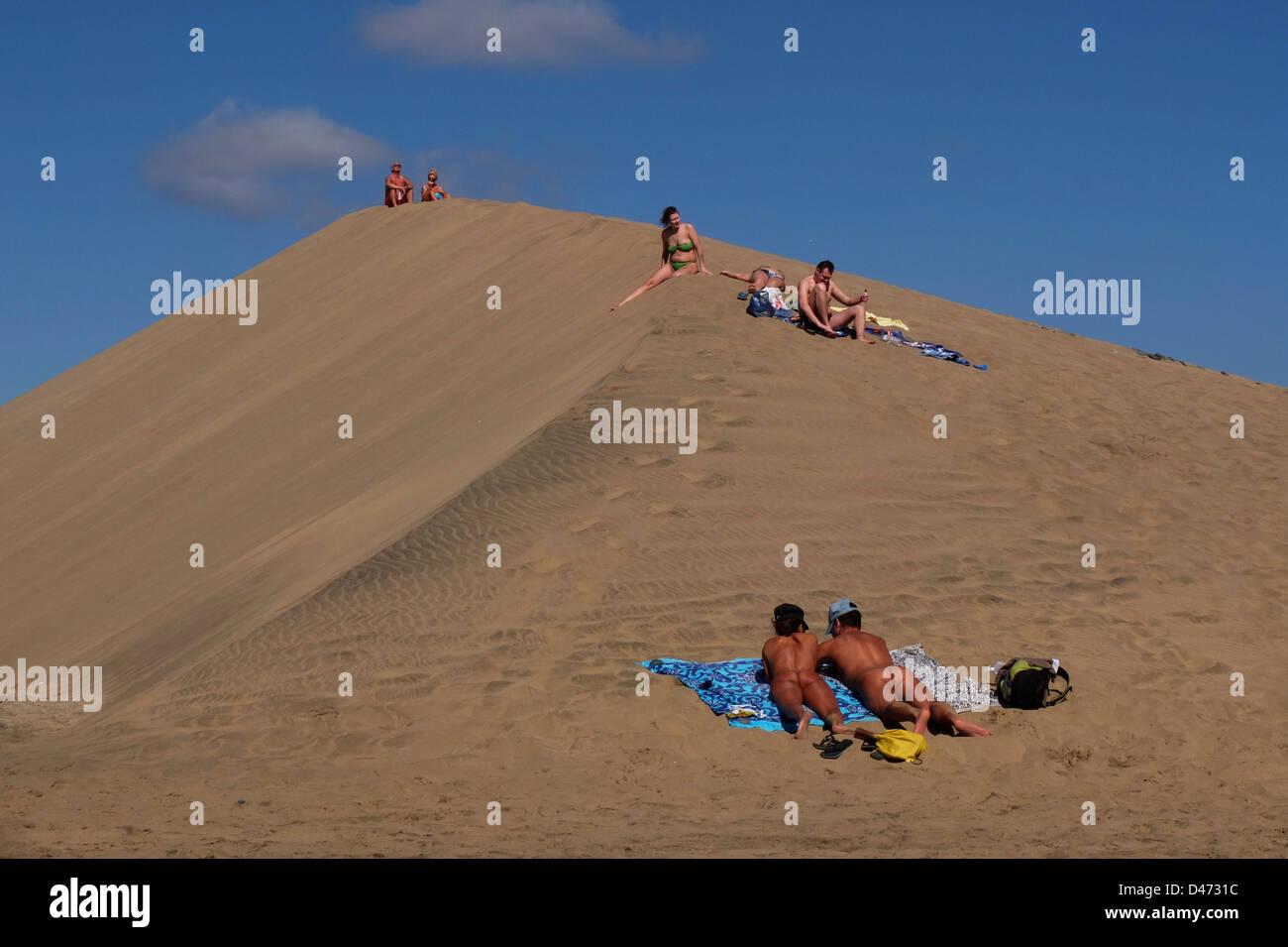 playa de maspalomas canary islands