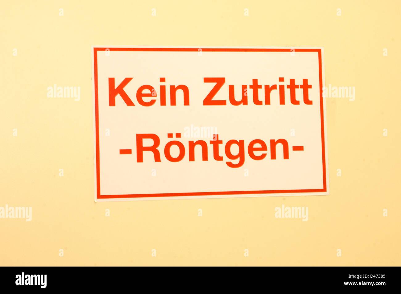 German warning sign 'Kein Zutritt' 'No Access'. - Stock Image