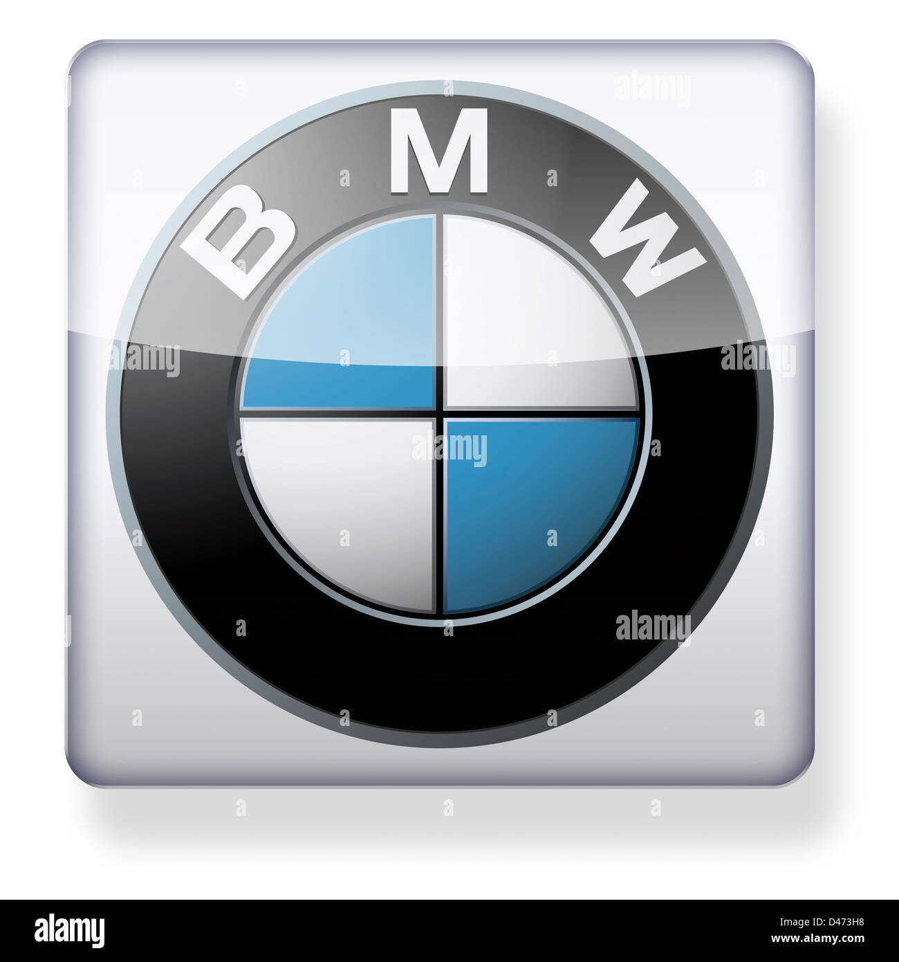 BMW logo as an app icon. Clipping path included. Stock Photo