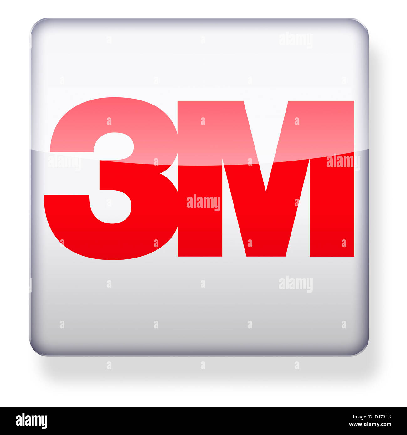 3M logo as an app icon  Clipping path included Stock Photo