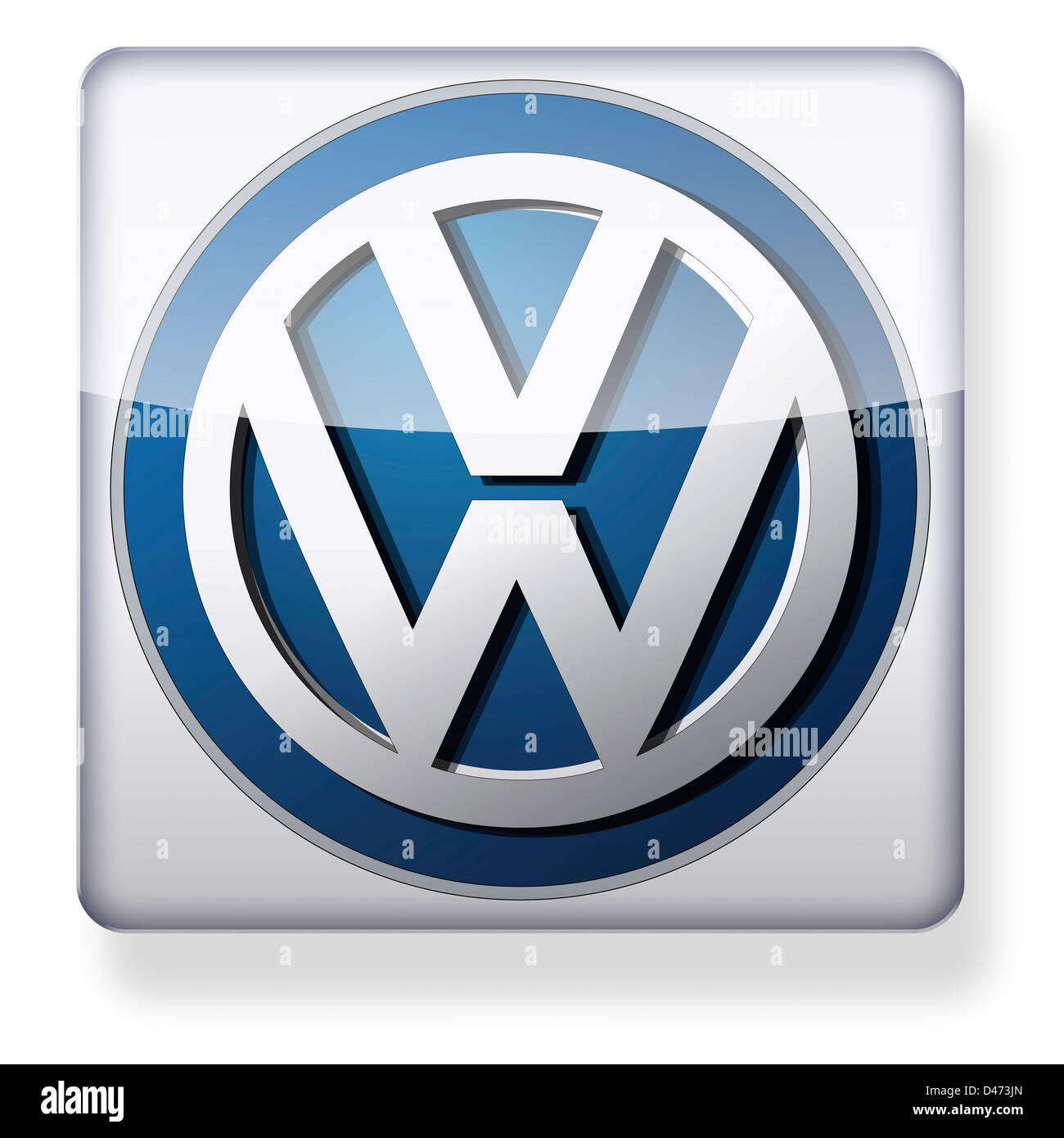 VW logo as an app icon. Clipping path included. - Stock Image