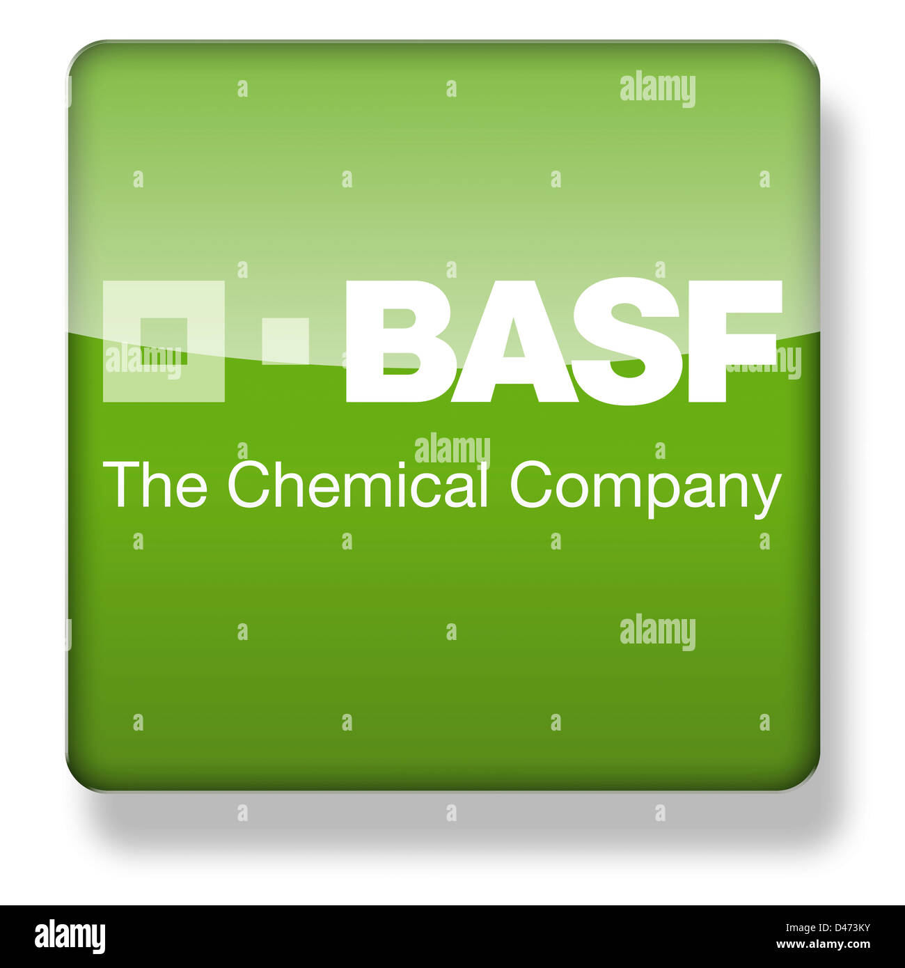 BASF logo as an app icon  Clipping path included Stock Photo