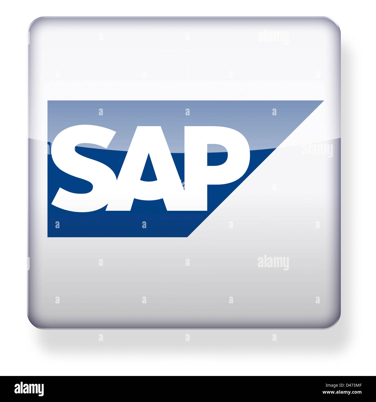 SAP logo as an app icon  Clipping path included Stock Photo