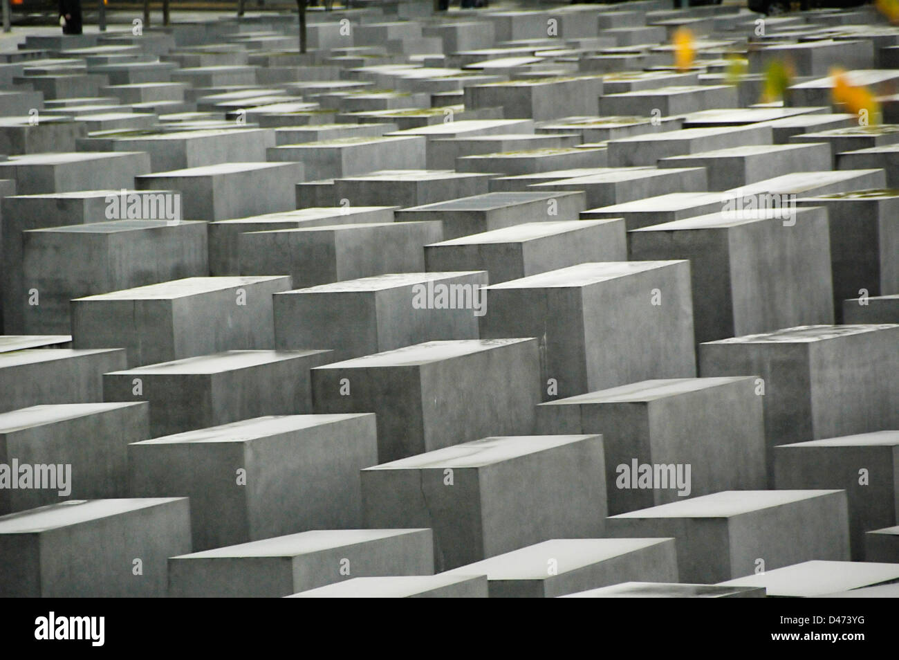 Berlin Holocaust memorial of stone slabs to Jews murdered during 2nd world war in Europe - Stock Image